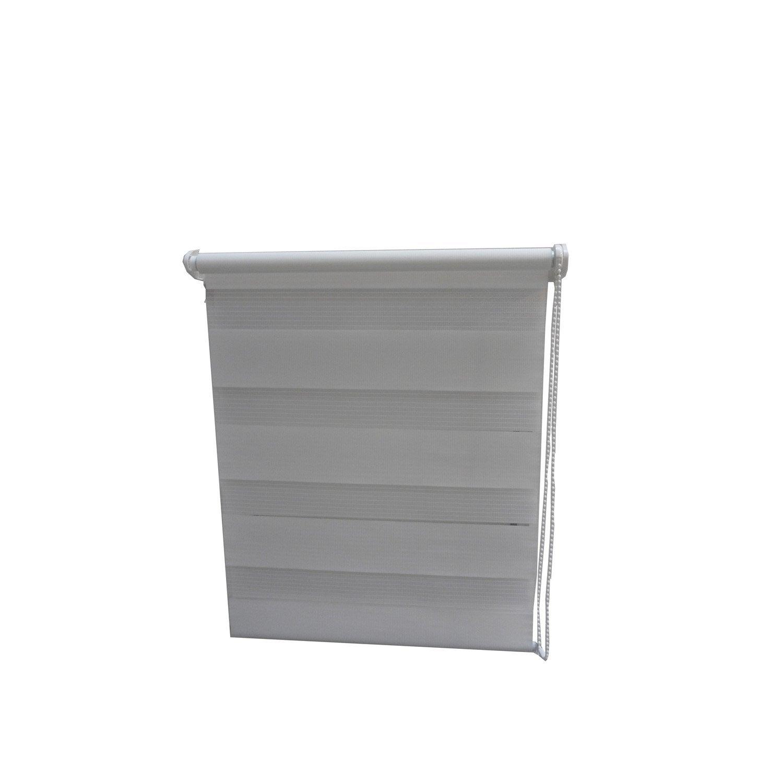 store enrouleur jour nuit blanc 60 x 90 cm leroy merlin. Black Bedroom Furniture Sets. Home Design Ideas