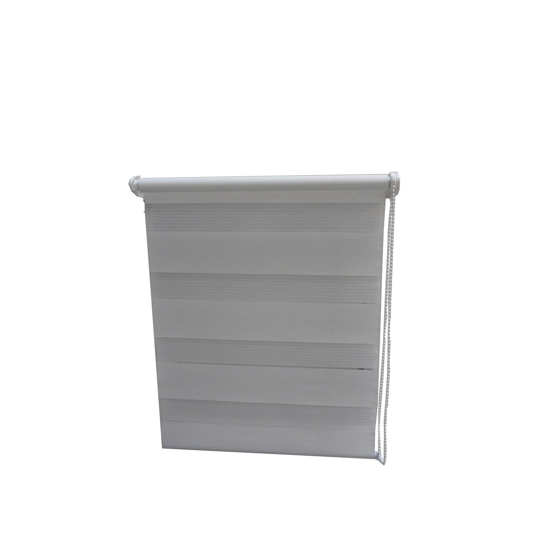 store enrouleur jour nuit blanc 45 x 180 cm leroy merlin. Black Bedroom Furniture Sets. Home Design Ideas