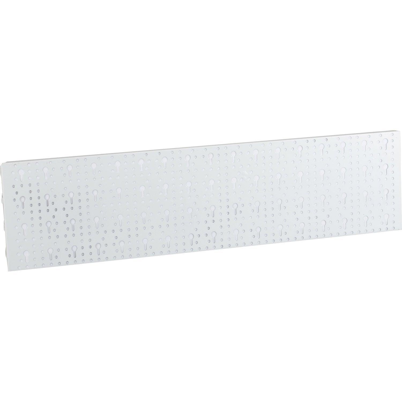 2 panneaux perfor s en acier epoxy blanc prof 20cm for Panneaux acrylique leroy merlin