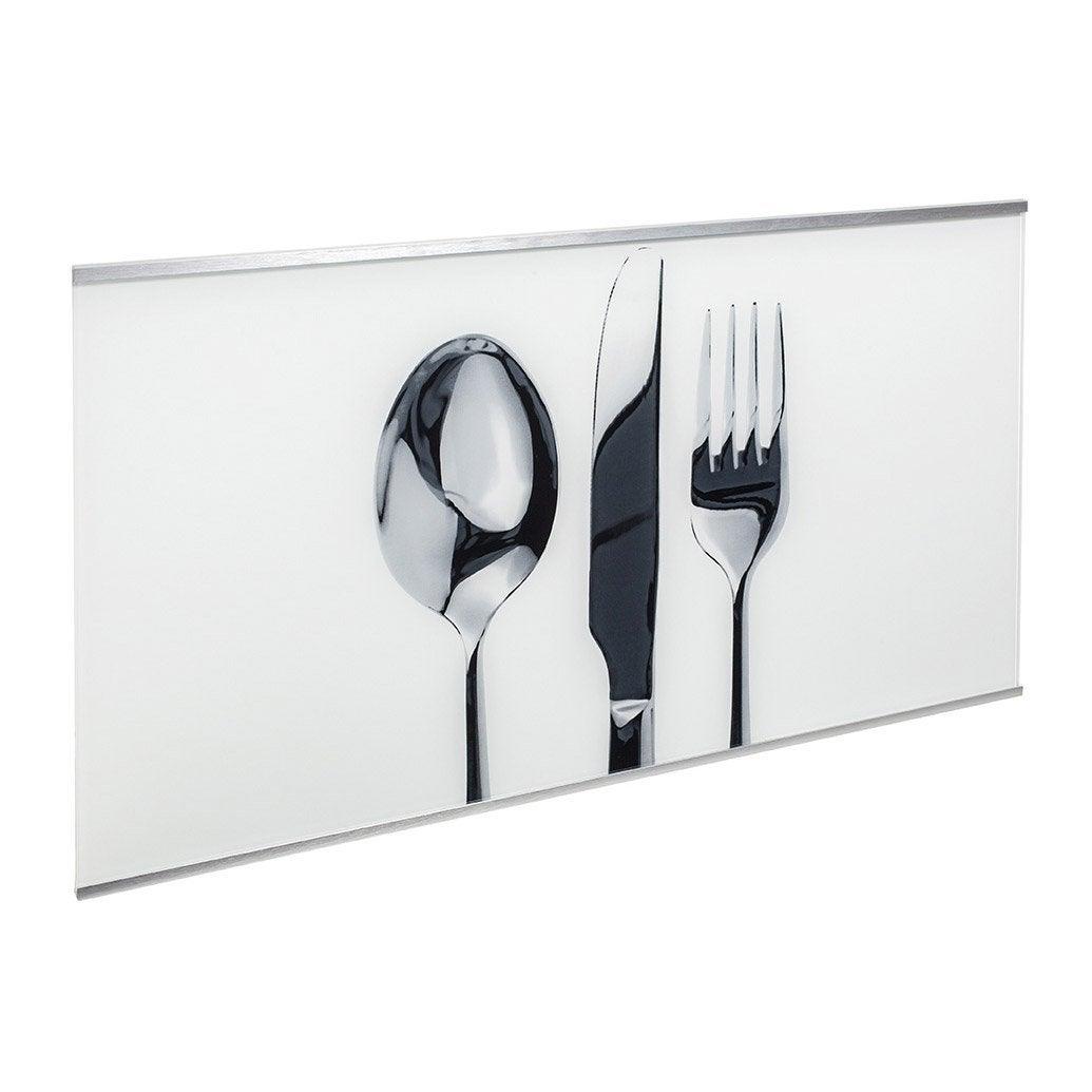 Cr dence verre d cor couverts cm x cm leroy merlin for Vitre pour table de cuisine