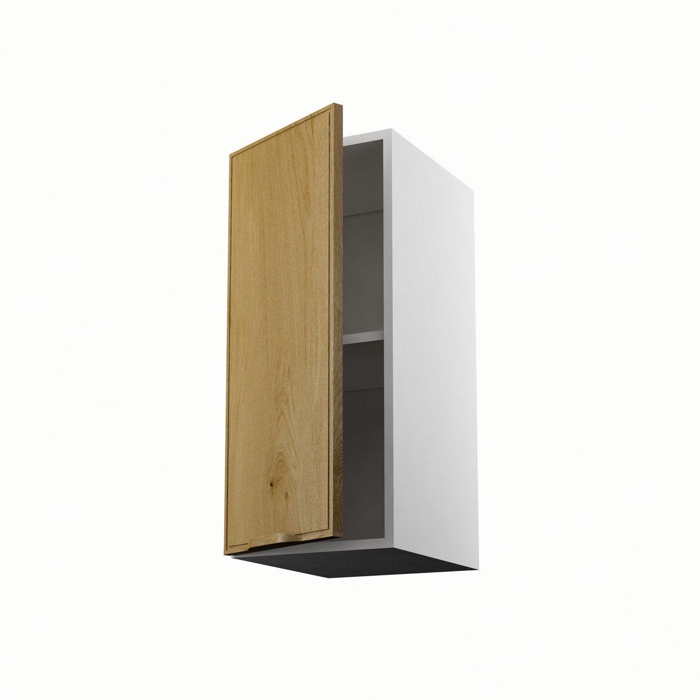 Meuble de cuisine haut ch ne 1 porte origine h70xl30xp35 for Porte placard 60 x 30