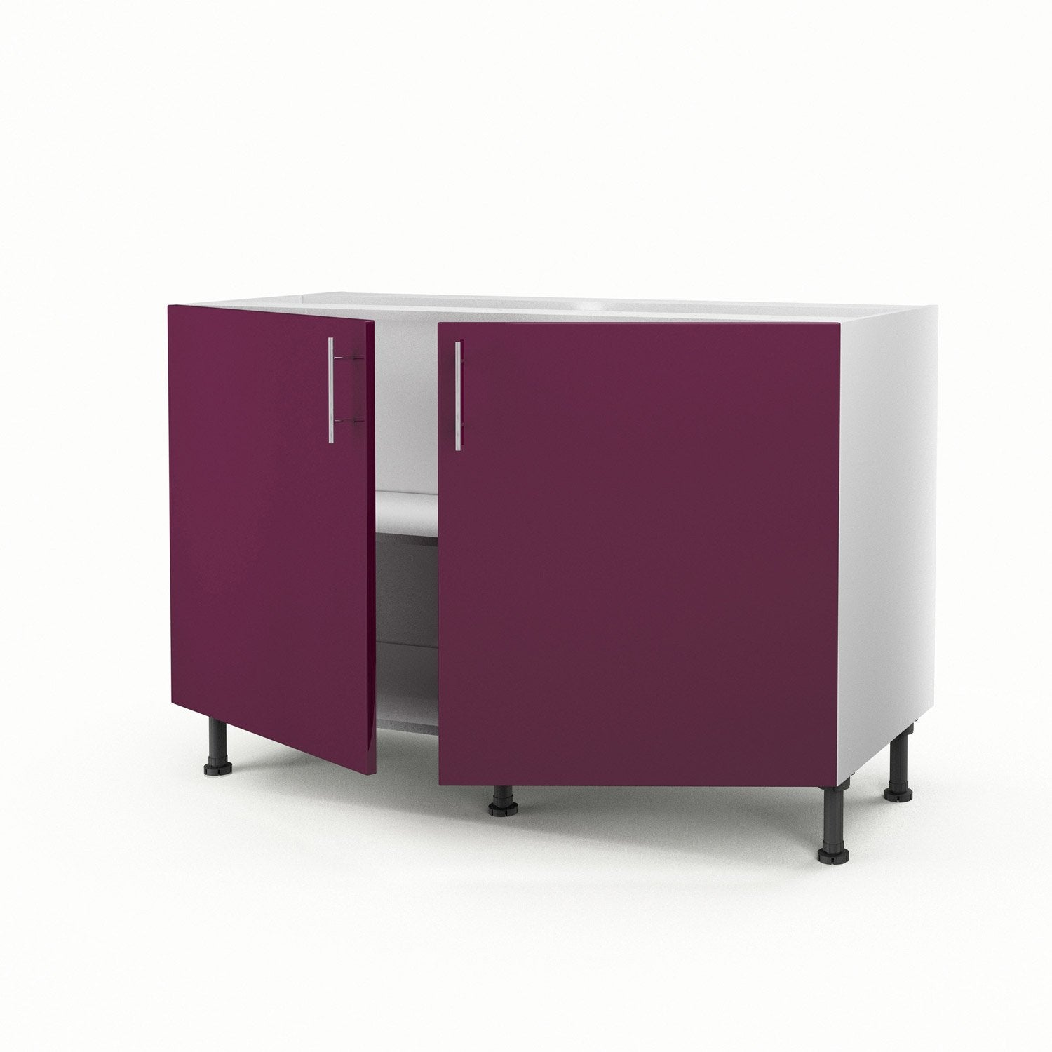 meuble de cuisine sous vier violet 2 portes rio. Black Bedroom Furniture Sets. Home Design Ideas