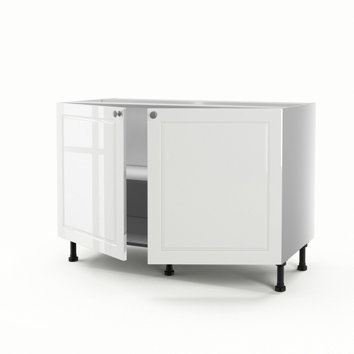 meuble de cuisine sous vier blanc 2 portes chelsea h70xl120xp56 cm leroy merlin. Black Bedroom Furniture Sets. Home Design Ideas