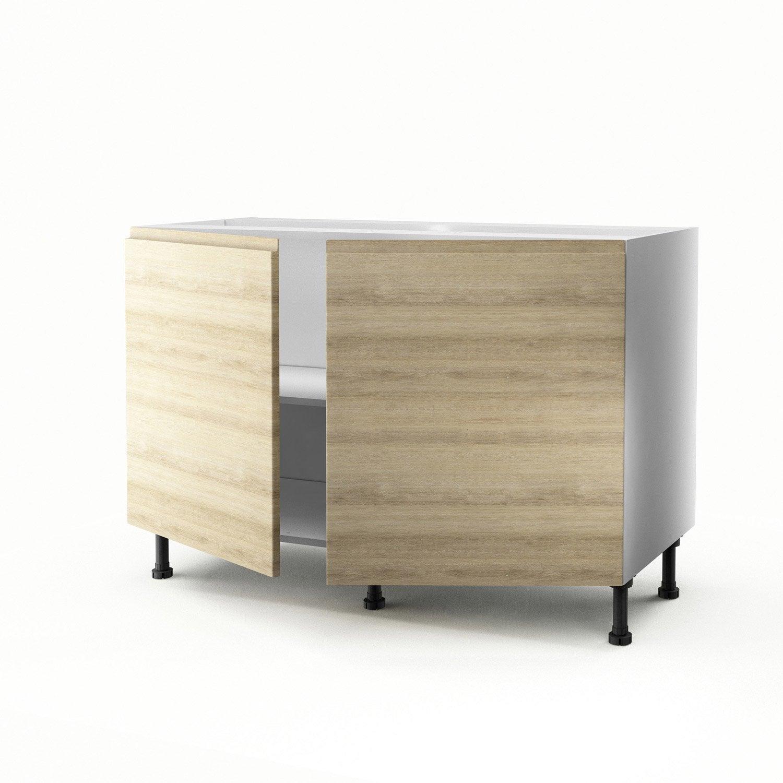 meuble de cuisine sous vier d cor ch ne 2 portes graphic x x cm leroy merlin. Black Bedroom Furniture Sets. Home Design Ideas