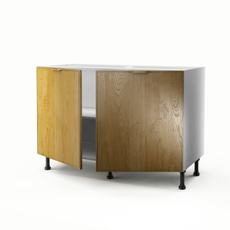 meuble de cuisine sous vier ch ne 2 portes origine x x cm leroy merlin. Black Bedroom Furniture Sets. Home Design Ideas