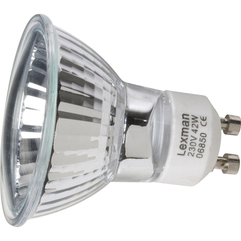 ampoule reflecteur halogene 40w lexman gu10 lumiere chaude. Black Bedroom Furniture Sets. Home Design Ideas