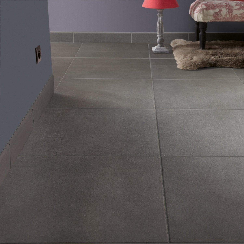 carrelage sol et mur anthracite effet b ton blackpool x cm leroy merlin. Black Bedroom Furniture Sets. Home Design Ideas