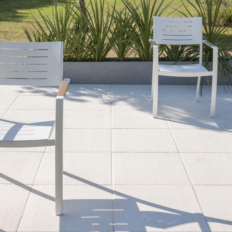 Dalle b ton sabl e ice blanc cass x cm x mm leroy merlin - Quelle epaisseur pour une dalle beton ...