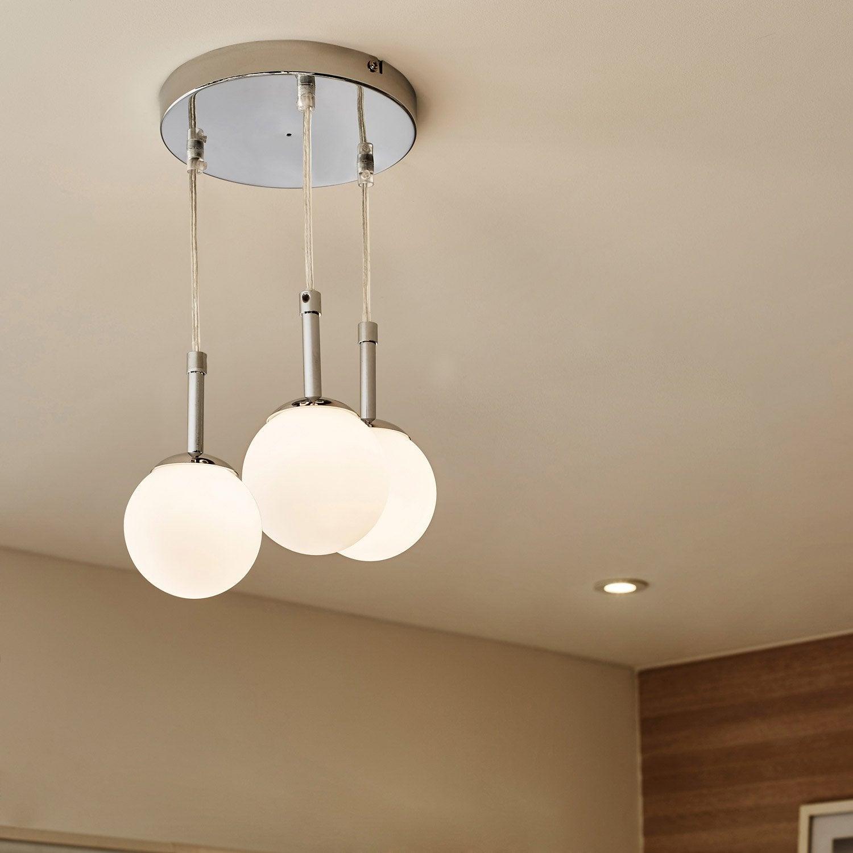 suspension gitse 3 t tes sans ampoule g9 leroy merlin. Black Bedroom Furniture Sets. Home Design Ideas