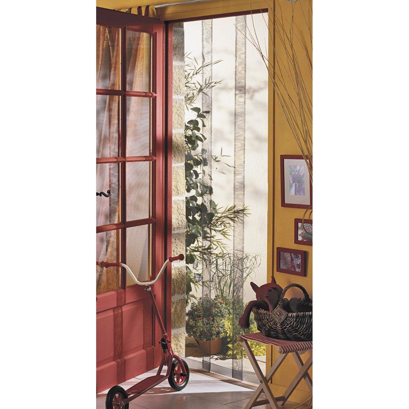 moustiquaire pour porte rideau moustikit x cm leroy merlin. Black Bedroom Furniture Sets. Home Design Ideas