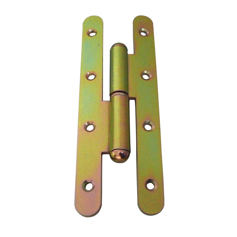 Paumelle a bout rond en acier pour porte de fenetre 160 x for Porte de garage 60 mm