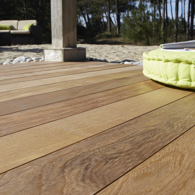 lame lantawi en bois tali naturel x x leroy merlin. Black Bedroom Furniture Sets. Home Design Ideas