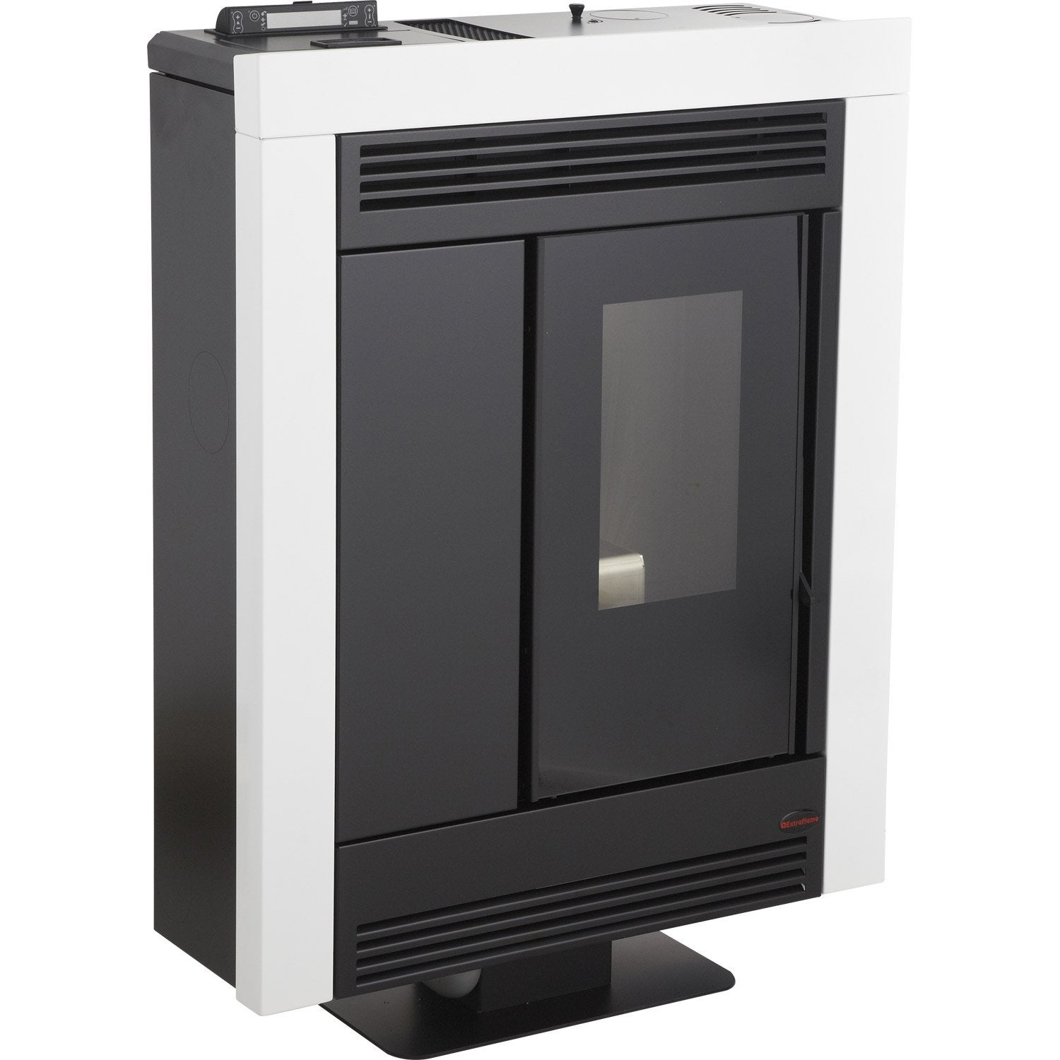 po le granul s extraflame souvenir steel blanc 8 kw leroy merlin. Black Bedroom Furniture Sets. Home Design Ideas
