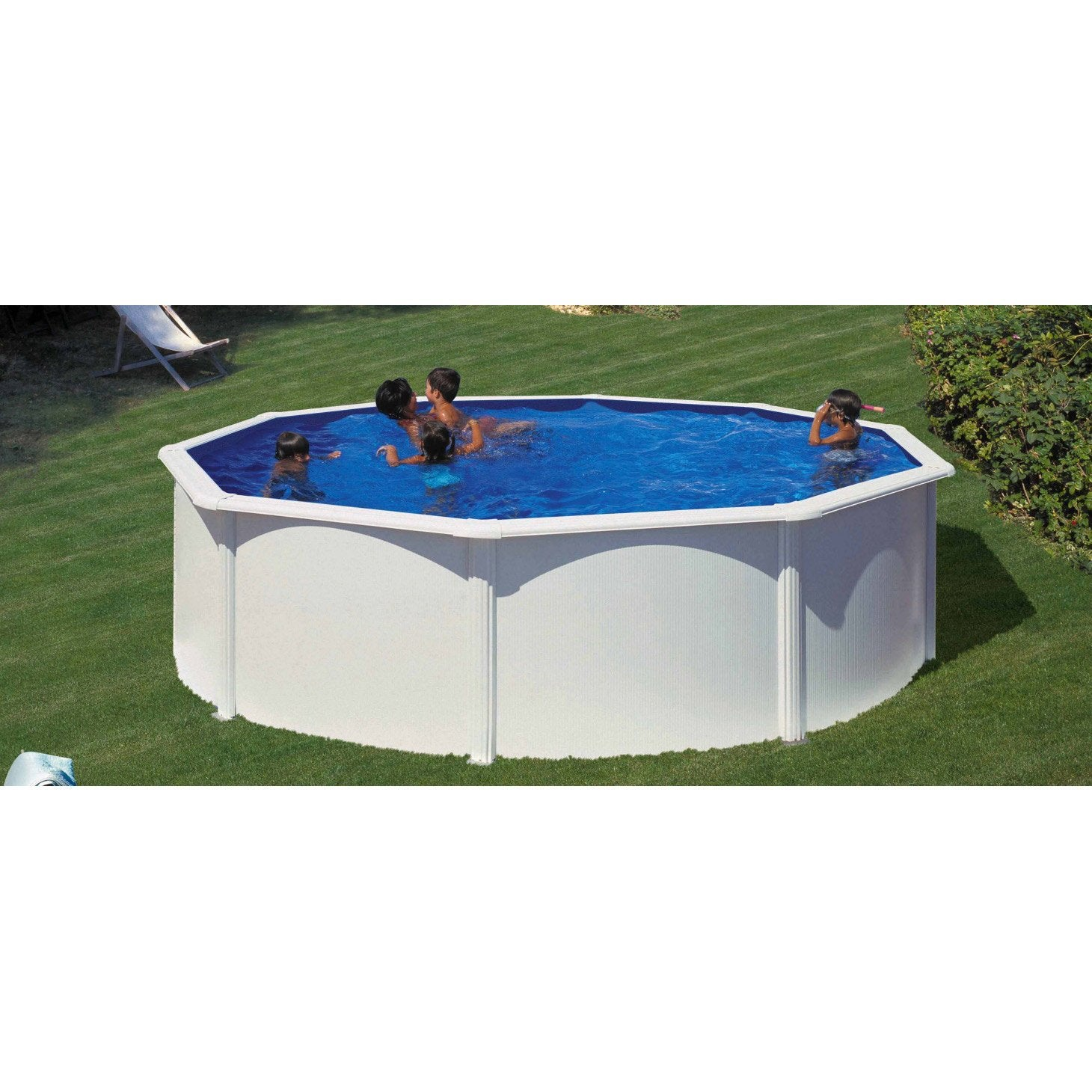 piscine hors sol acier san clara diam 5 5 x h 1 2 m. Black Bedroom Furniture Sets. Home Design Ideas