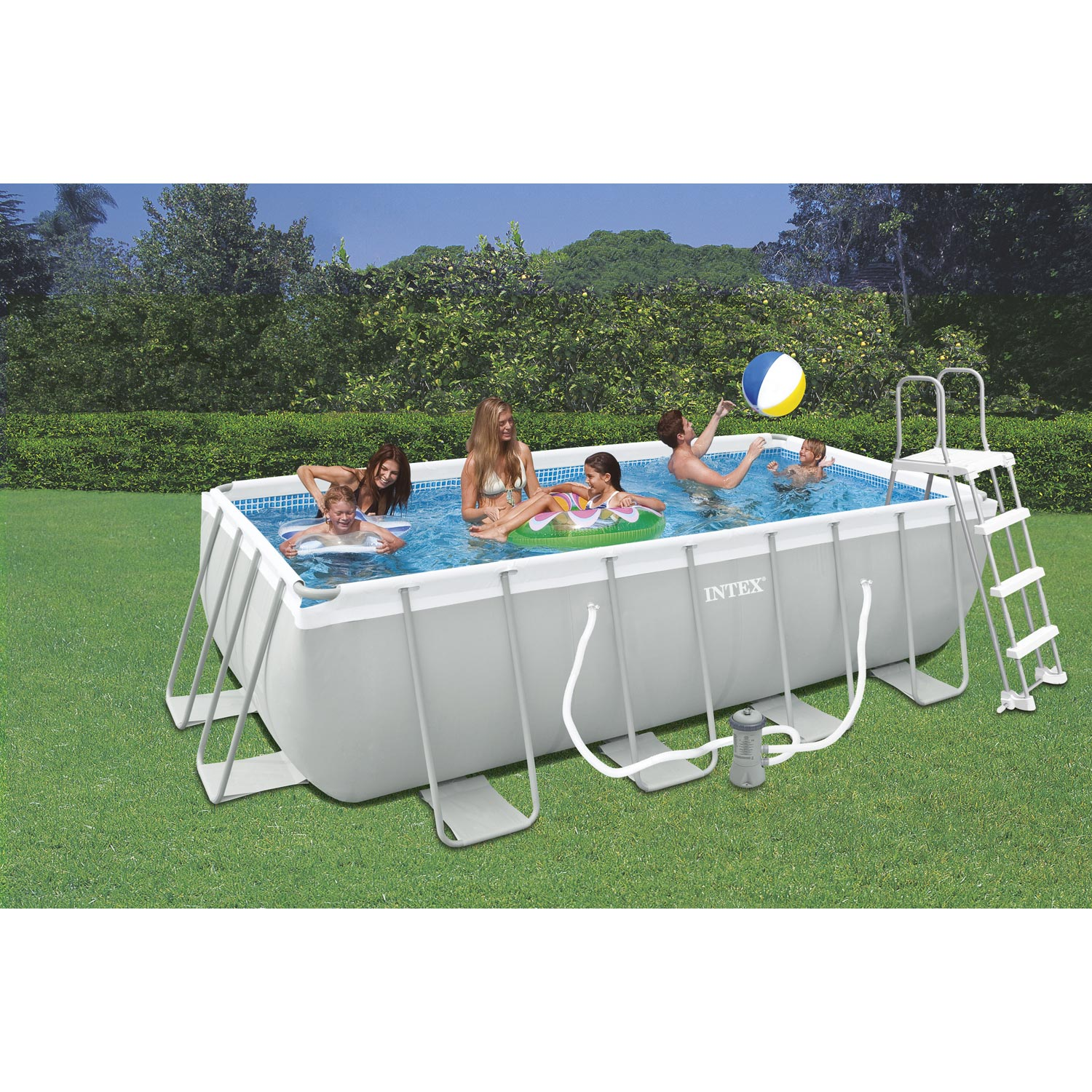 Piscine hors sol tubulaire s rie sp ciale intex rectangulaire - Sel piscine leroy merlin ...