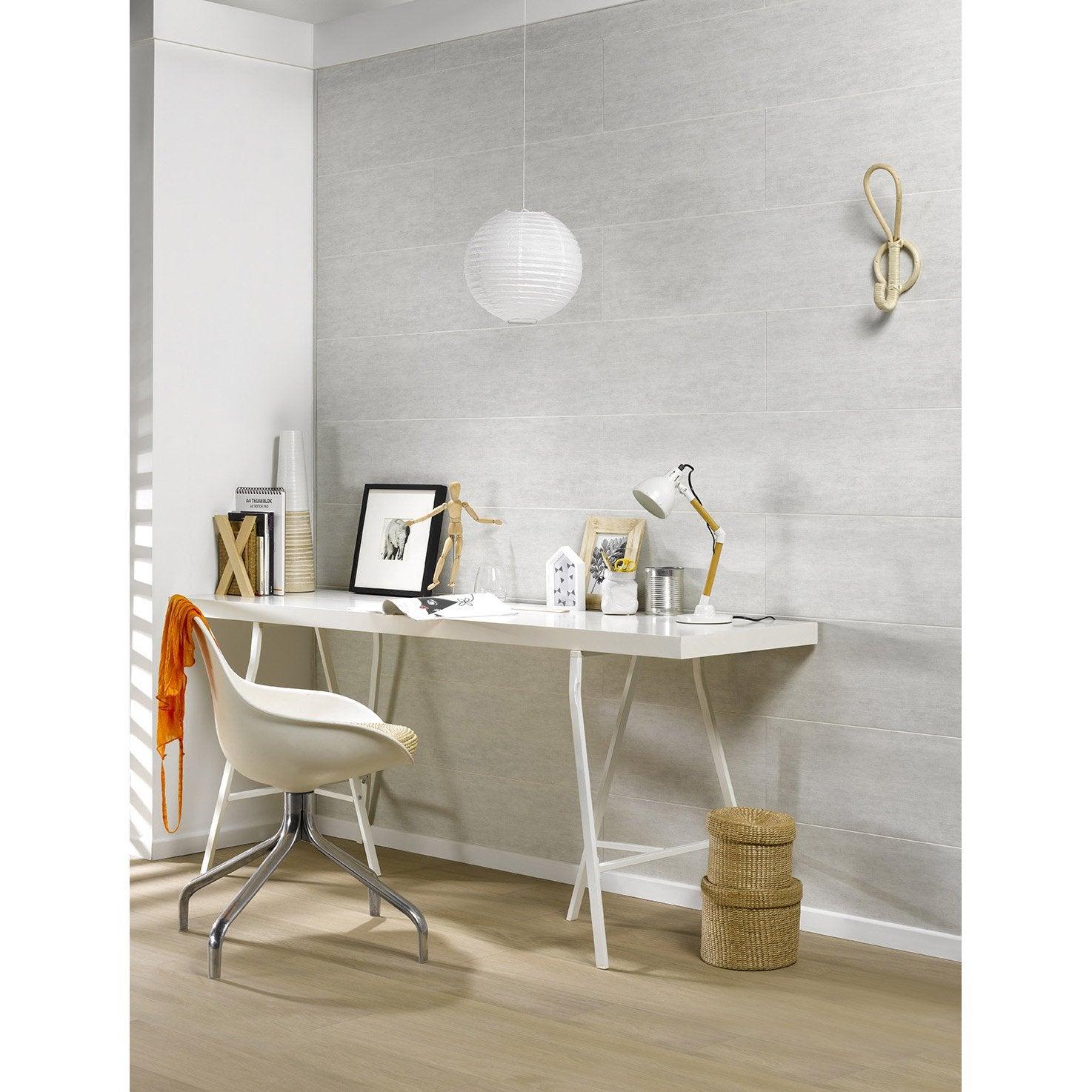 lambris pvc gris textur dumaplast x cm x mm leroy merlin. Black Bedroom Furniture Sets. Home Design Ideas