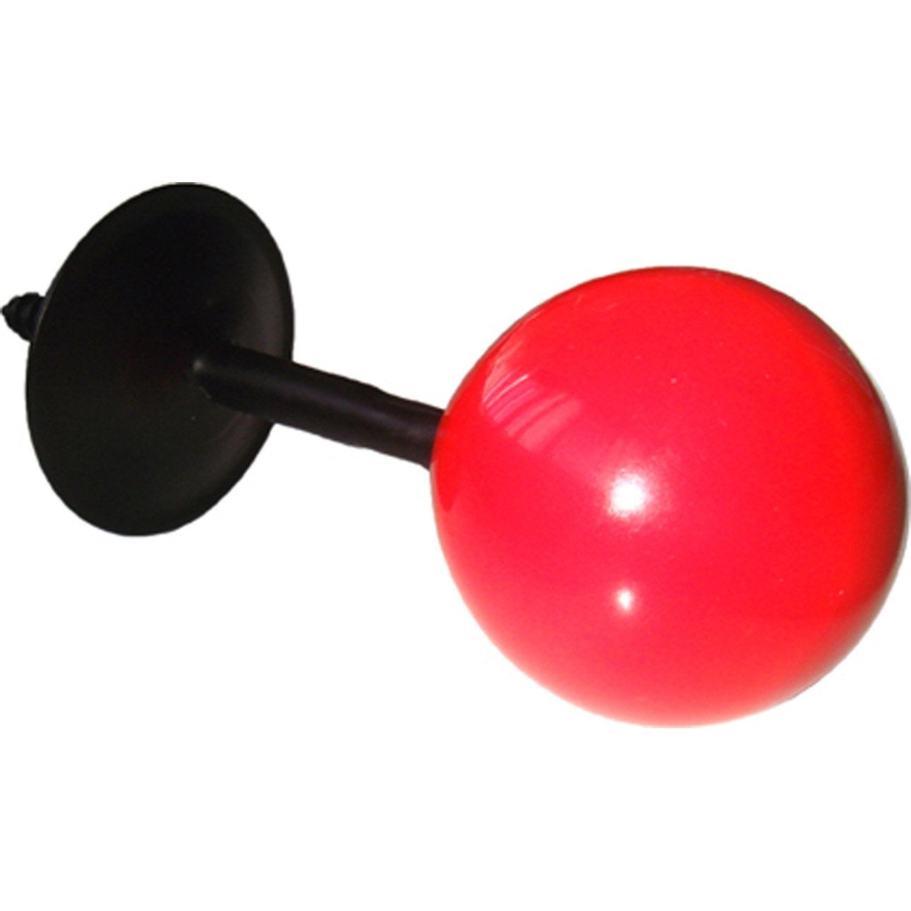 Portemanteau boule m tal 1 t te rouge leroy merlin for Boule lumineuse leroy merlin