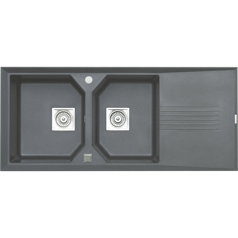 vier encastrer astracast logica 2 bacs gouttoir en. Black Bedroom Furniture Sets. Home Design Ideas