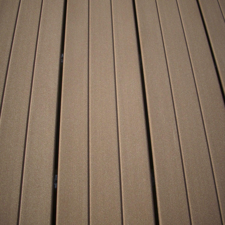 planche premium en composite brun clair l 240 x l 18 cm x ep 21 mm leroy merlin. Black Bedroom Furniture Sets. Home Design Ideas