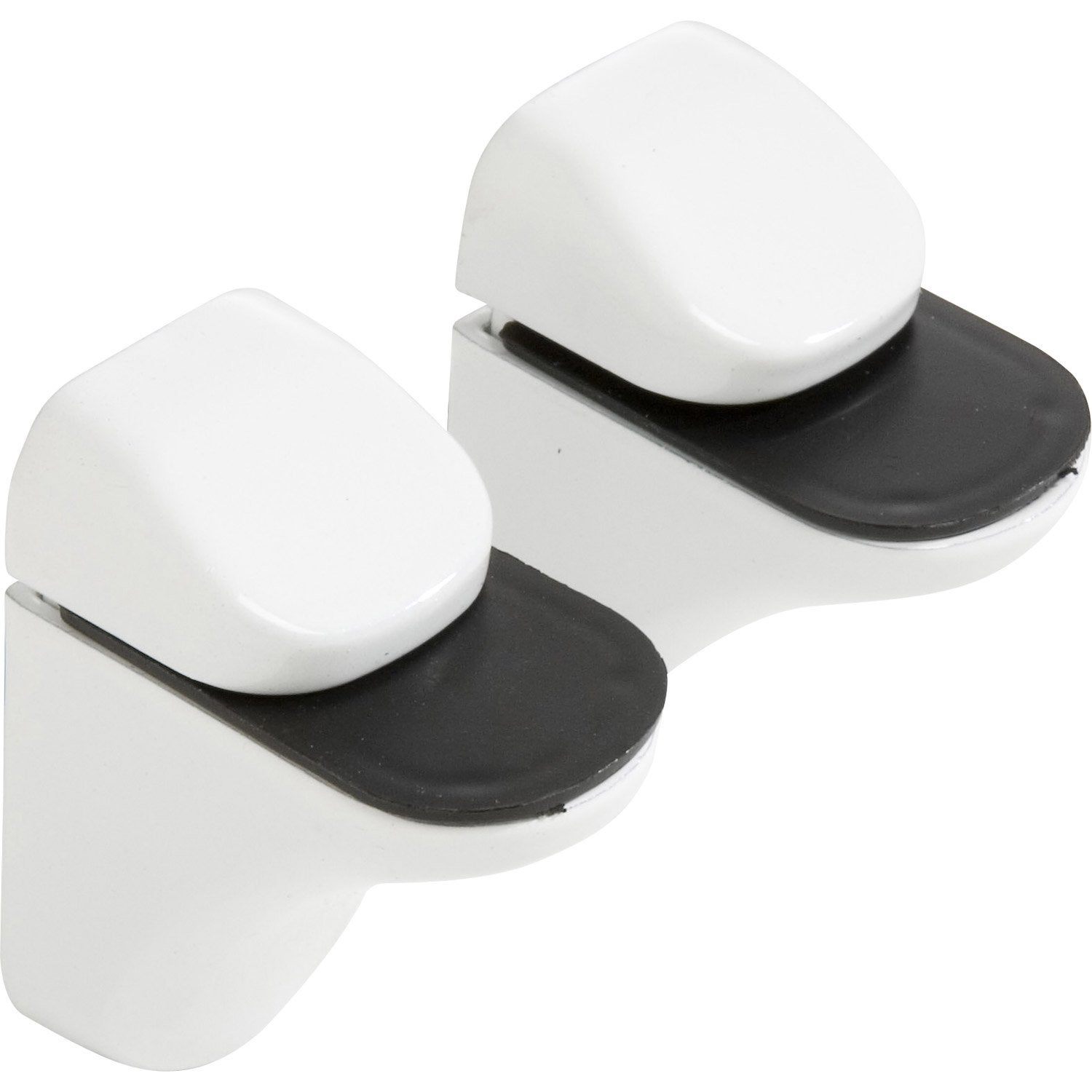Lot de 2 supports tablette pince blanc laqu leroy merlin - Planche laque blanc ...