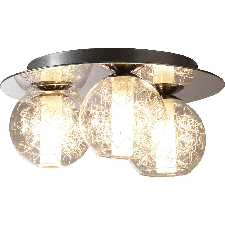 plafonnier 3 spots halog ne 3 x g9 chrome altone eglo. Black Bedroom Furniture Sets. Home Design Ideas