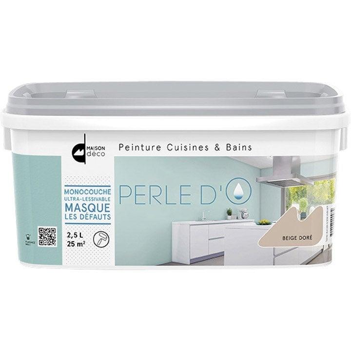 Peinture cuisine et bain Perle dO MAISON DECO, taupe, 2
