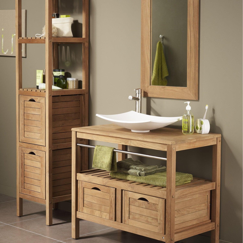meuble sous vasque x x cm surabaya leroy merlin. Black Bedroom Furniture Sets. Home Design Ideas
