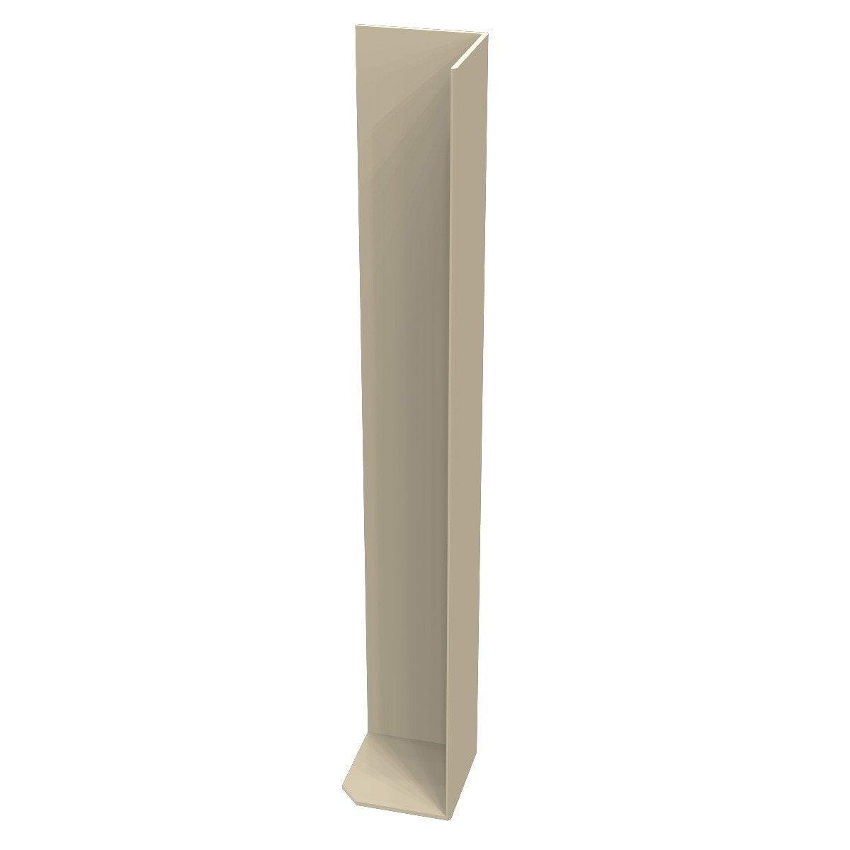 angle ext rieur pour bandeau de rive sable pvc mm leroy merlin. Black Bedroom Furniture Sets. Home Design Ideas