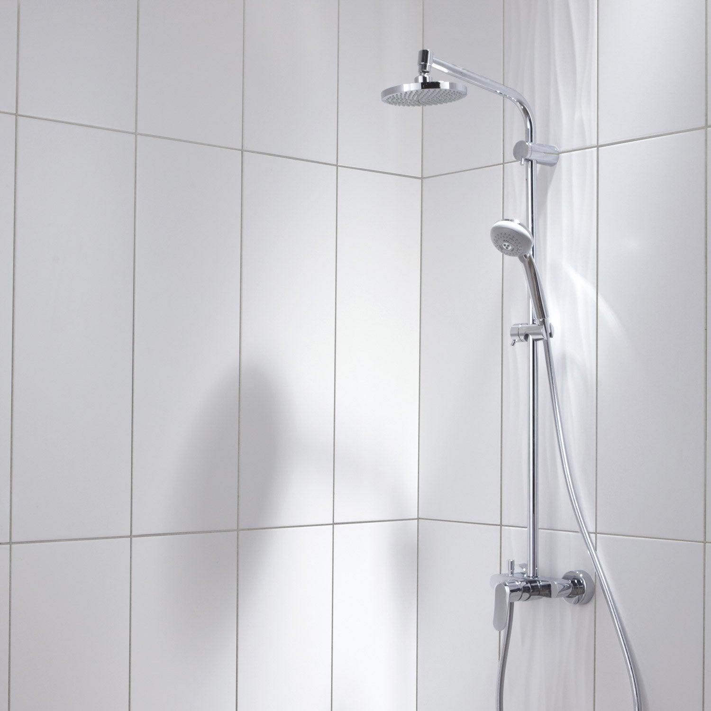 Faïence mur blanc mat, décor relief wave l.25 x L.75 cm | Leroy Merlin