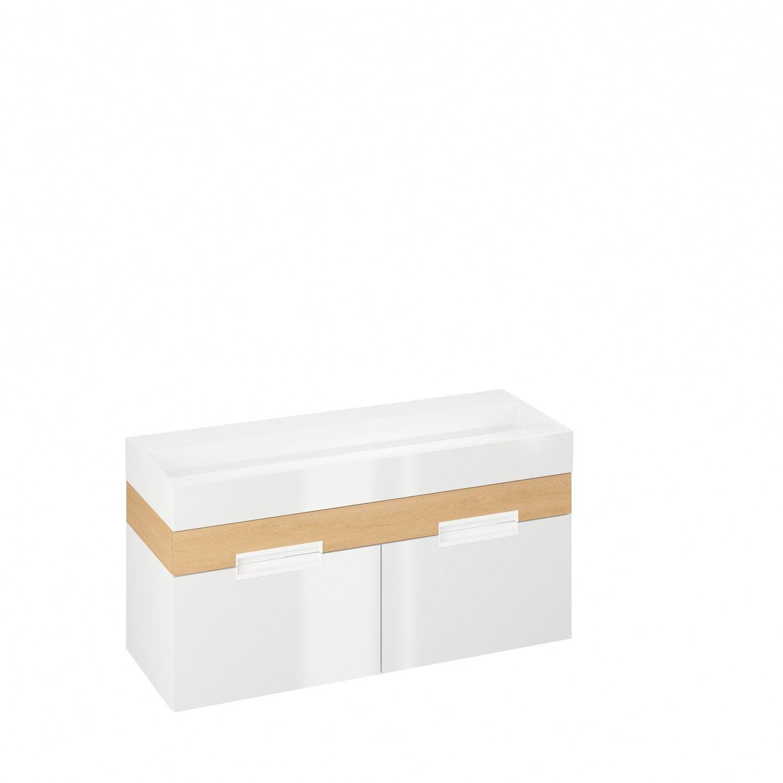 meuble vasque 120 cm blanc eden leroy merlin. Black Bedroom Furniture Sets. Home Design Ideas