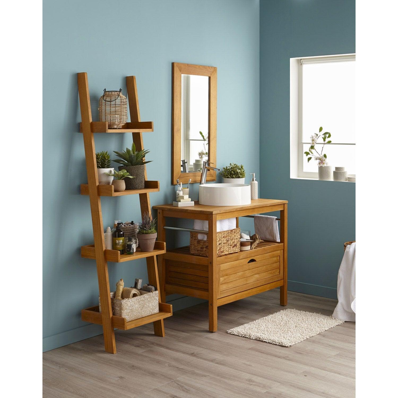 meuble salle de bain bambou leroy merlin