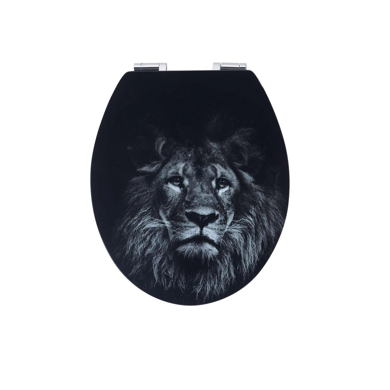 Abattant frein de chute déclipsable noir bois compressé Lion Leroy Merlin # Bois Compressé Leroy Merlin