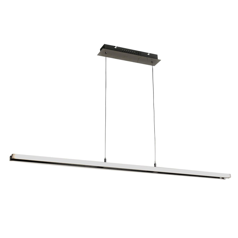 suspension led int gr e design banner m tal argent 2 x 16. Black Bedroom Furniture Sets. Home Design Ideas