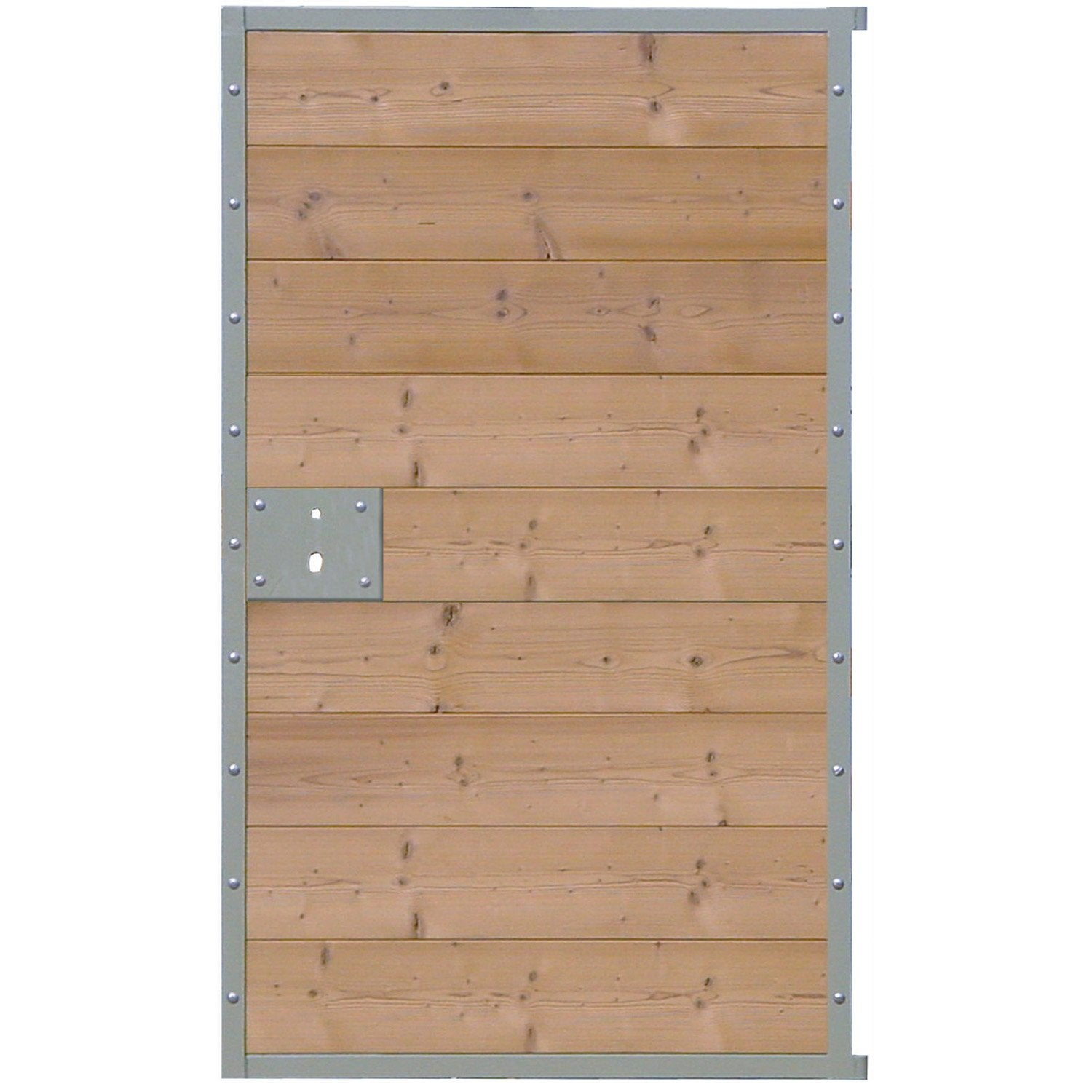Portillon battant en bois ponant x cm leroy for Portillon jardin en bois