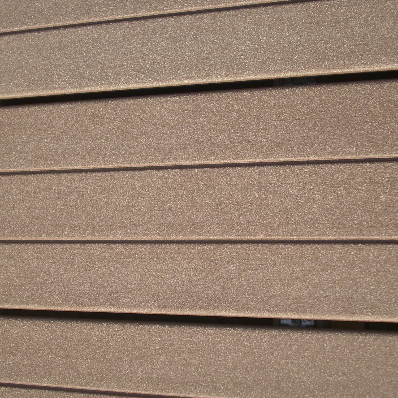 Planche premium en composite brun fonc l 300 x l 18 cm x ep 21 mm leroy m - Lame composite leroy merlin ...