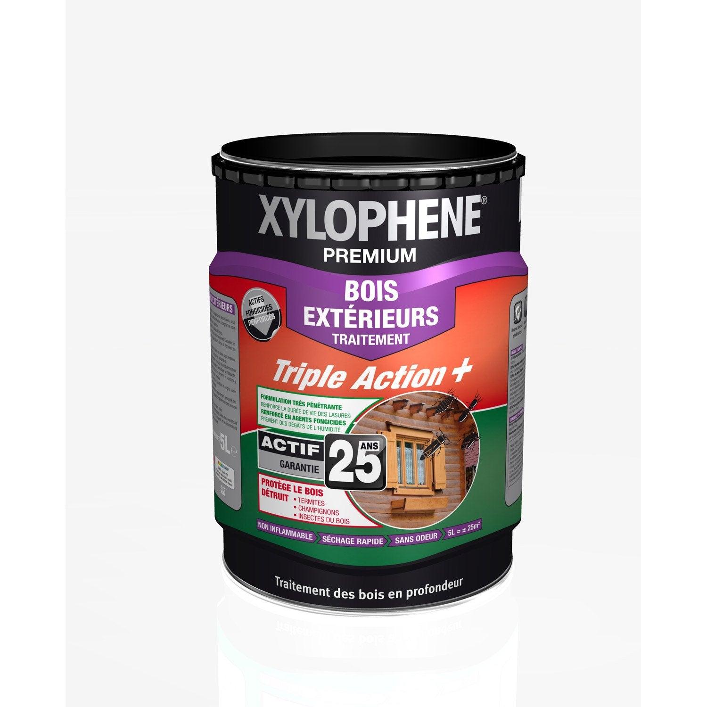 Traitement du bois ext rieur xylophene premium 25 ans 5 l for Traitement travertin exterieur