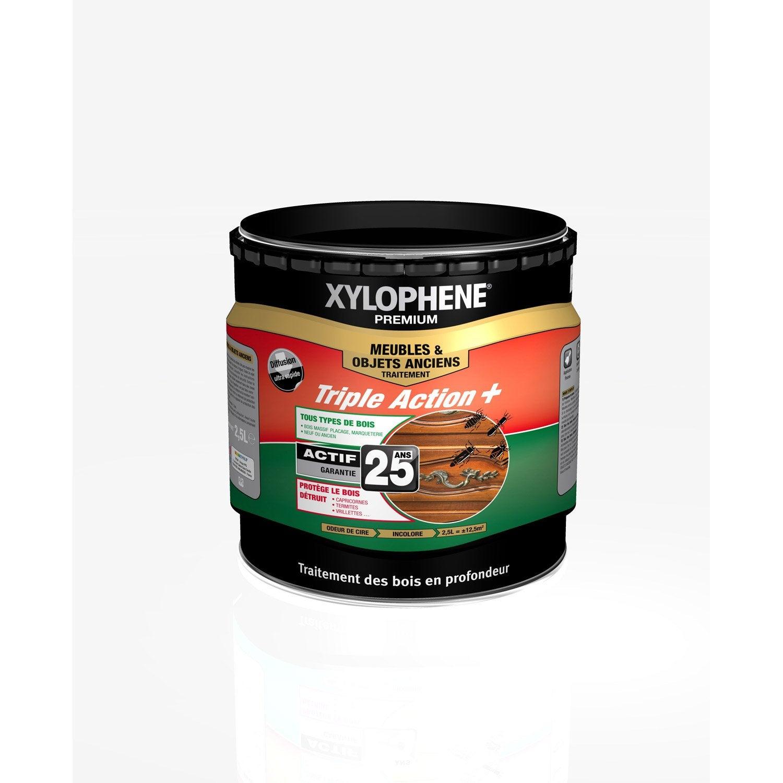 Traitement bois meuble xylophene premium 25 ans 2 5 l leroy merlin - Xylophene leroy merlin ...