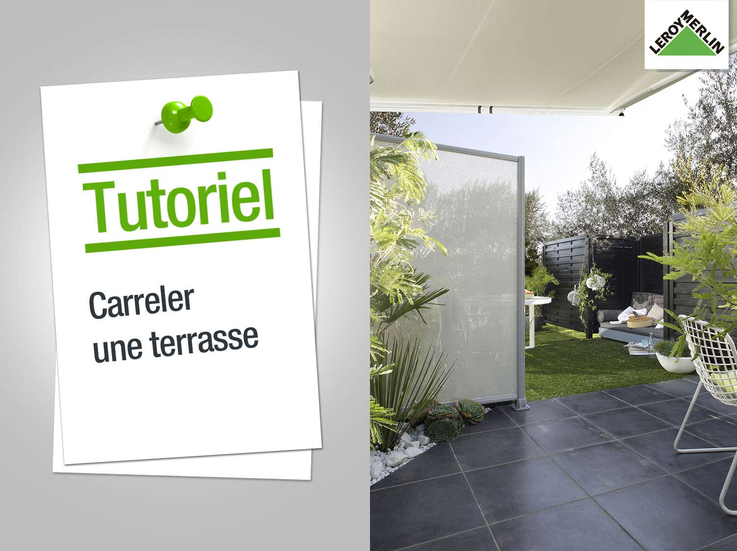 comment carreler une terrasse exterieure. Black Bedroom Furniture Sets. Home Design Ideas