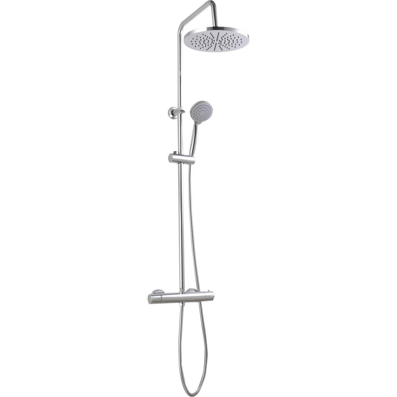 Colonne de douche avec robinetterie pagan chr leroy merlin - Colonne de douche blanche ...