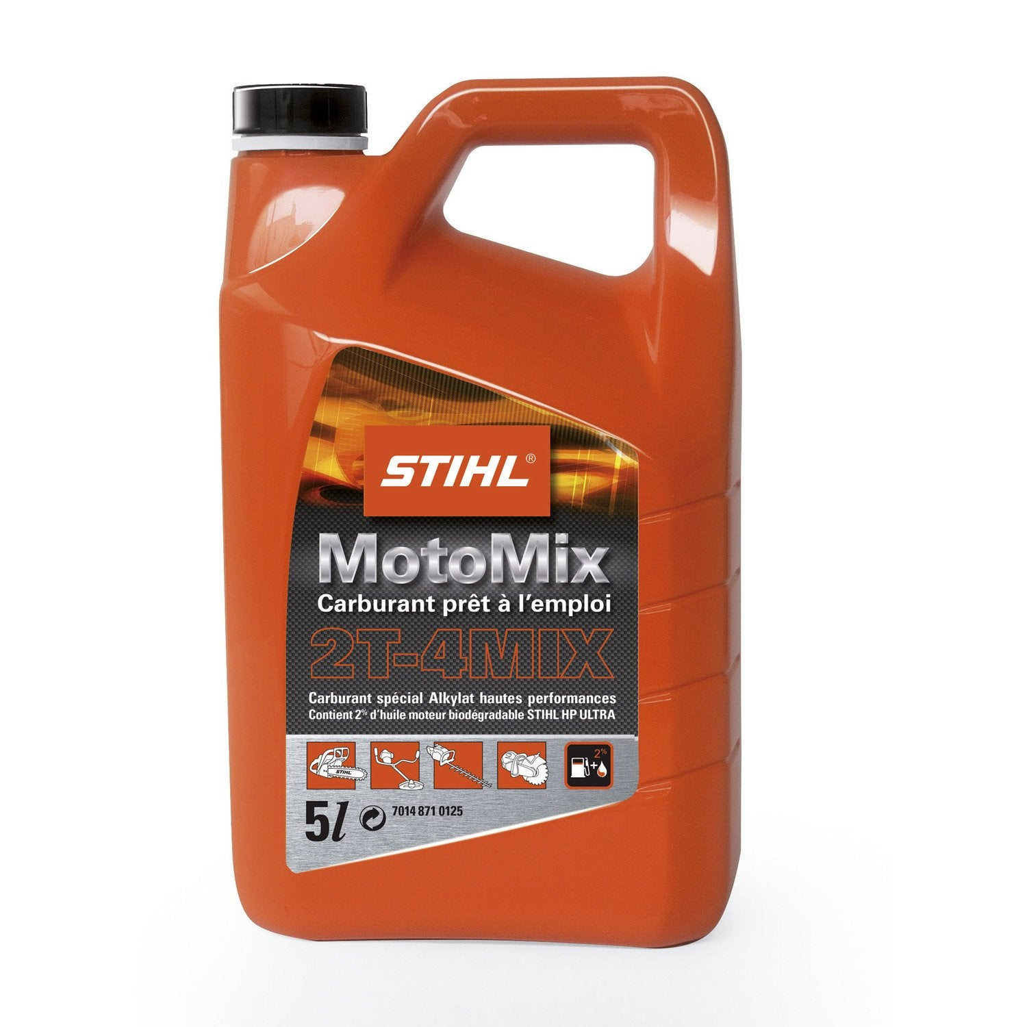 M lange 2 temps stihl motomix 5 l leroy merlin for Comment utiliser essence f