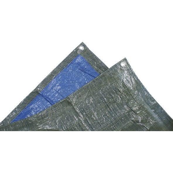 b che de protection en pe rectangulaire 300 x 400 cm bleu. Black Bedroom Furniture Sets. Home Design Ideas