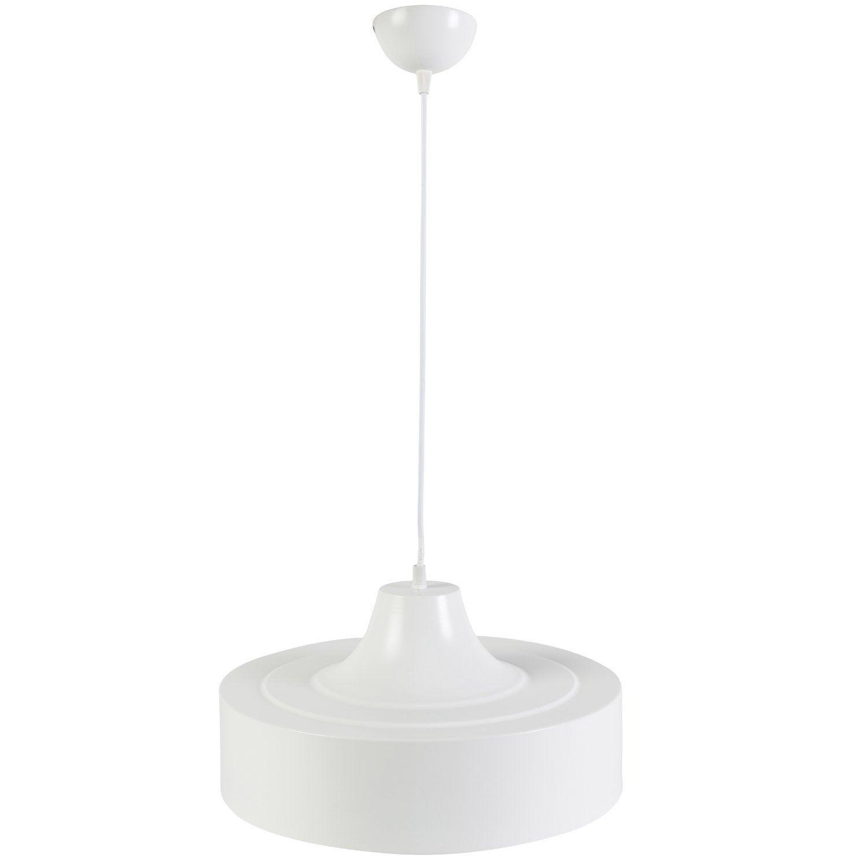 Suspension design lakewood m tal blanc 1 x 60 w inspire leroy merlin - Suspension metal blanc ...