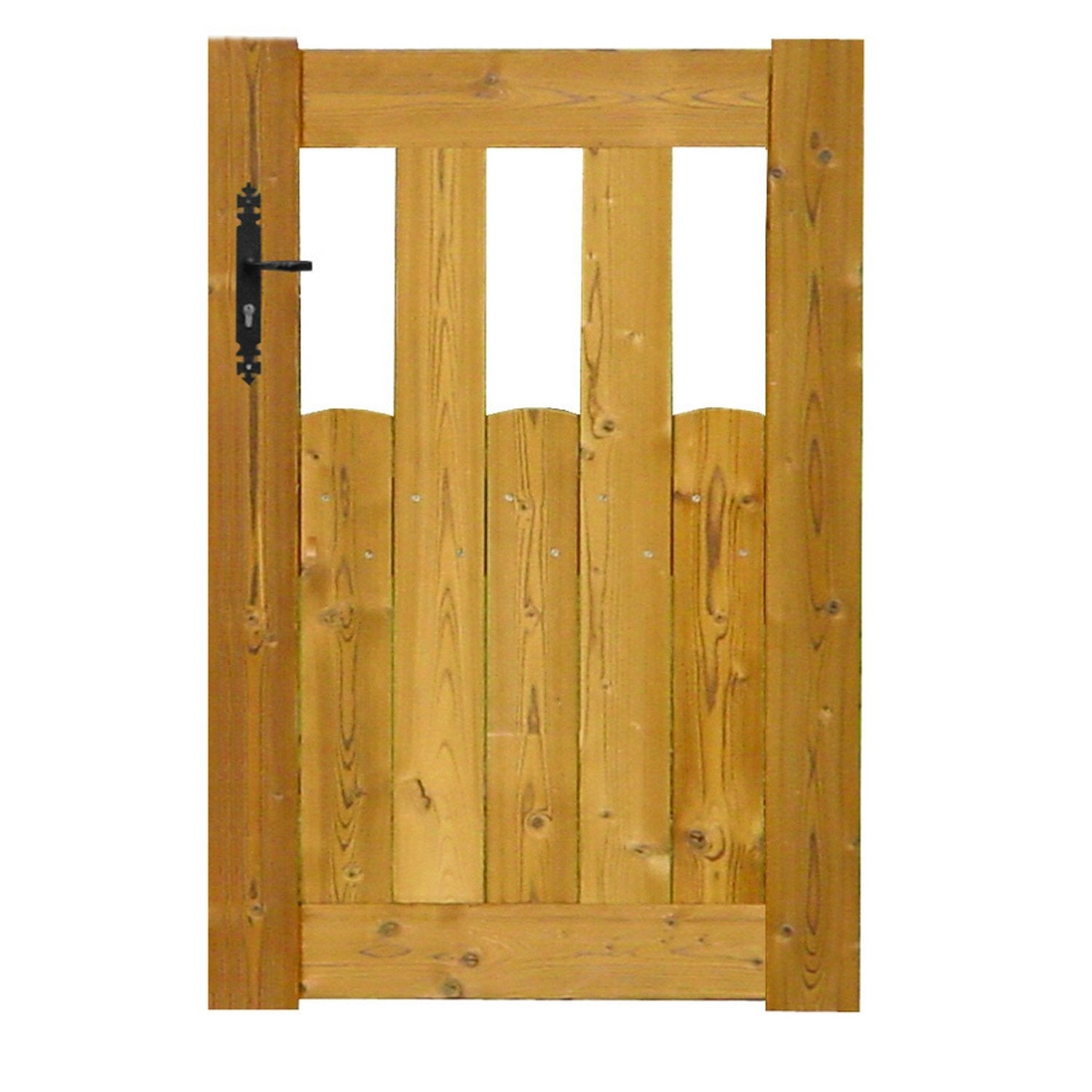 Portillon battant en bois lacanau x cm for Portillon piscine bois