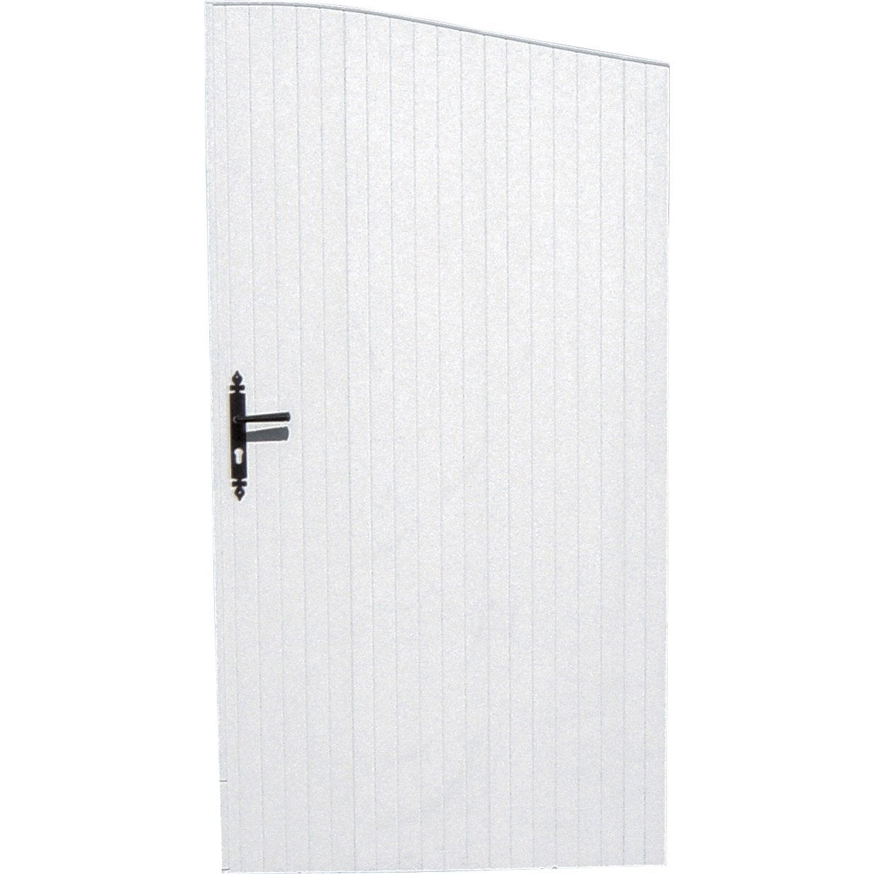 Portillon battant quiberon x cm blanc leroy for Portillon de jardin pvc