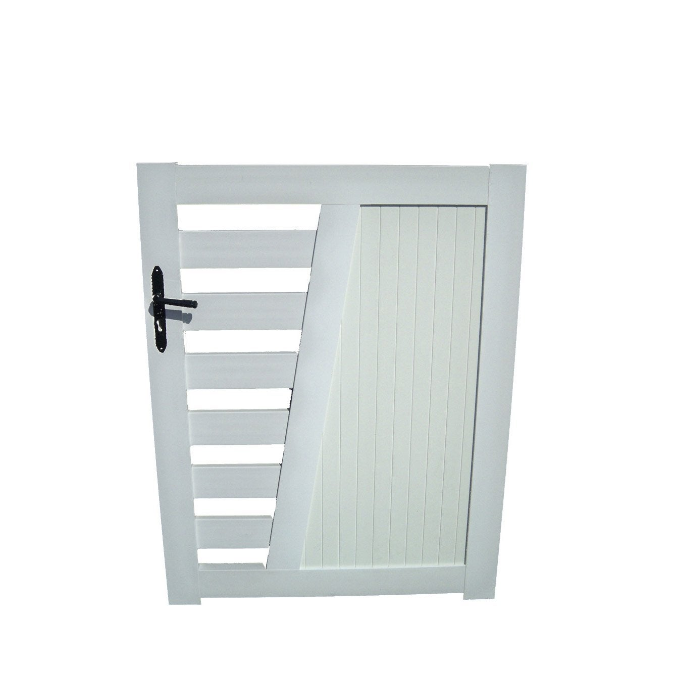 Portillon battant en pvc cedrela x cm leroy for Portillon pvc