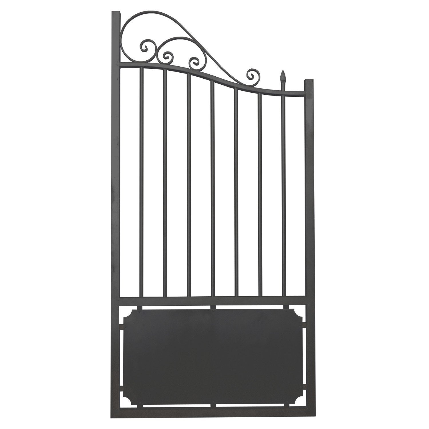 Portillon battant en aluminium matignon x cm leroy merlin - Portillon double battant ...