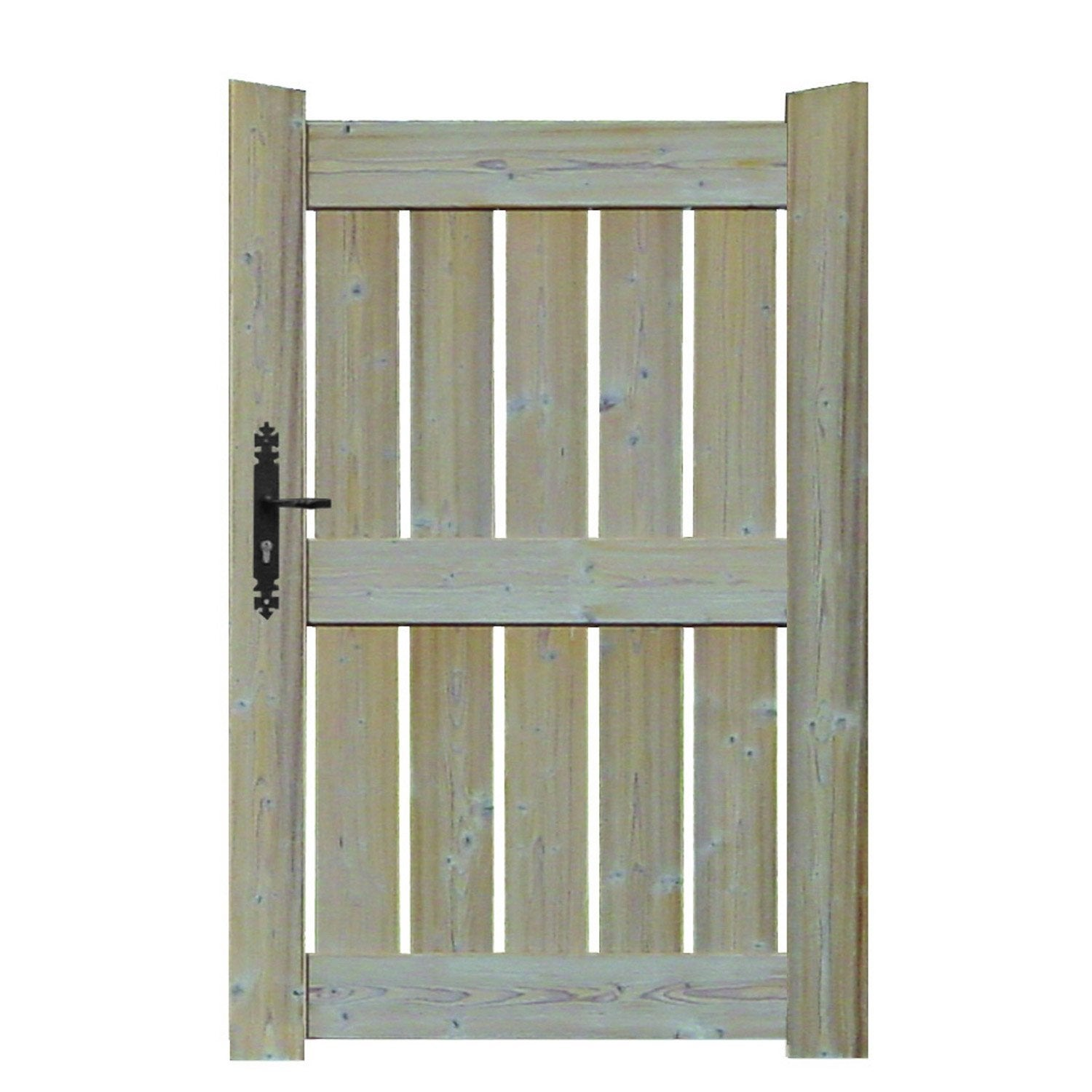 Portillon battant en bois le porge x cm for Portillon piscine bois