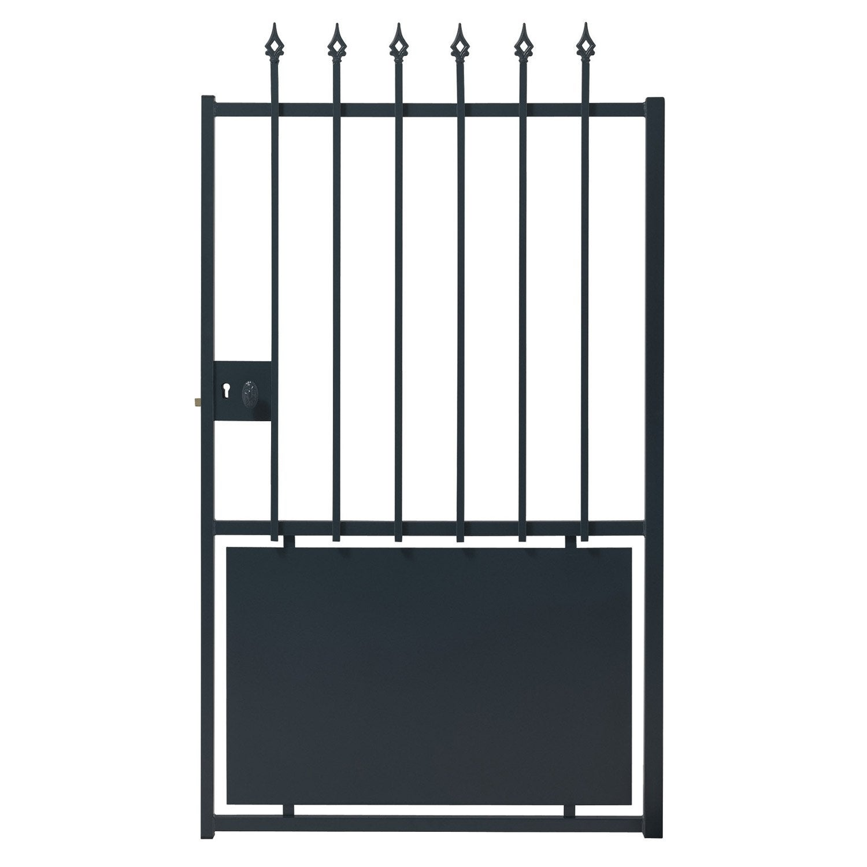 Portail acier leroy merlin portail for Portillon de jardin en fer