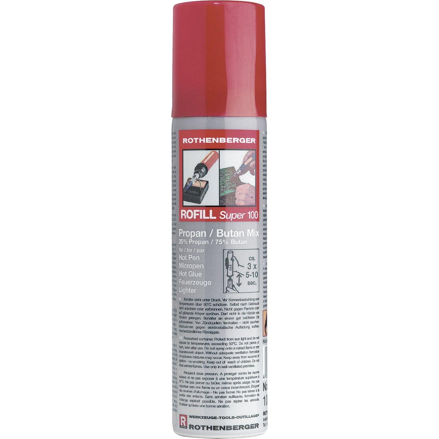 Bouteille non rechargeable de gaz butane rofill 100 - Injecteur gaz butane leroy merlin ...