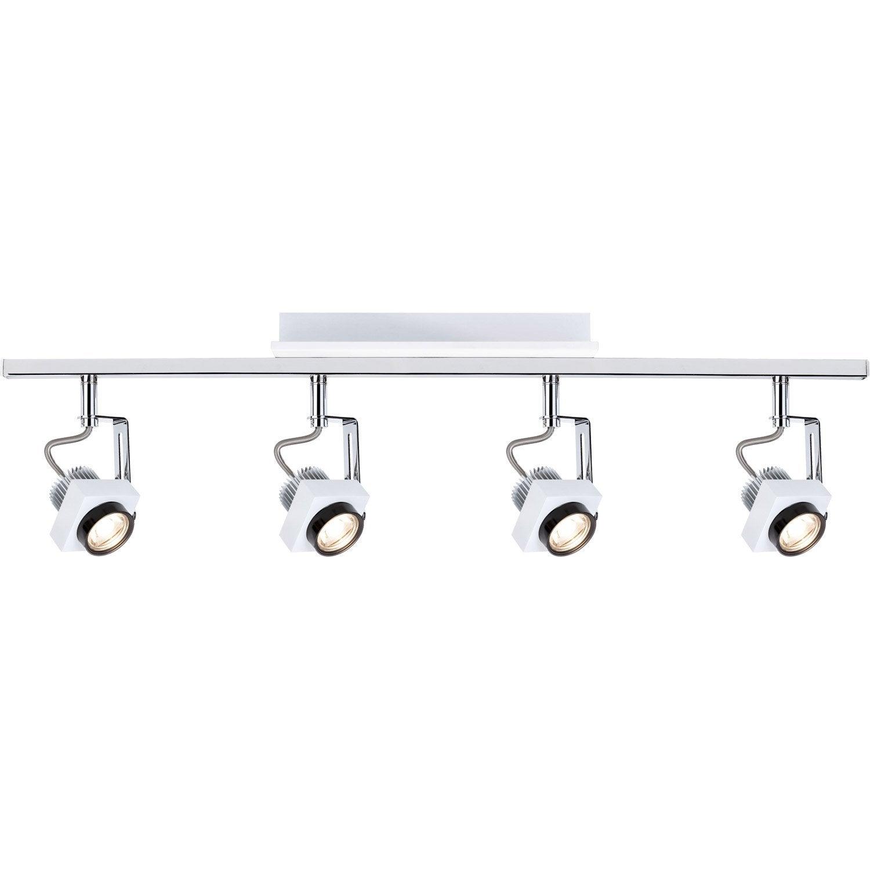 rampe 4 spots led 4 x led int gr e blanc phase paulmann. Black Bedroom Furniture Sets. Home Design Ideas